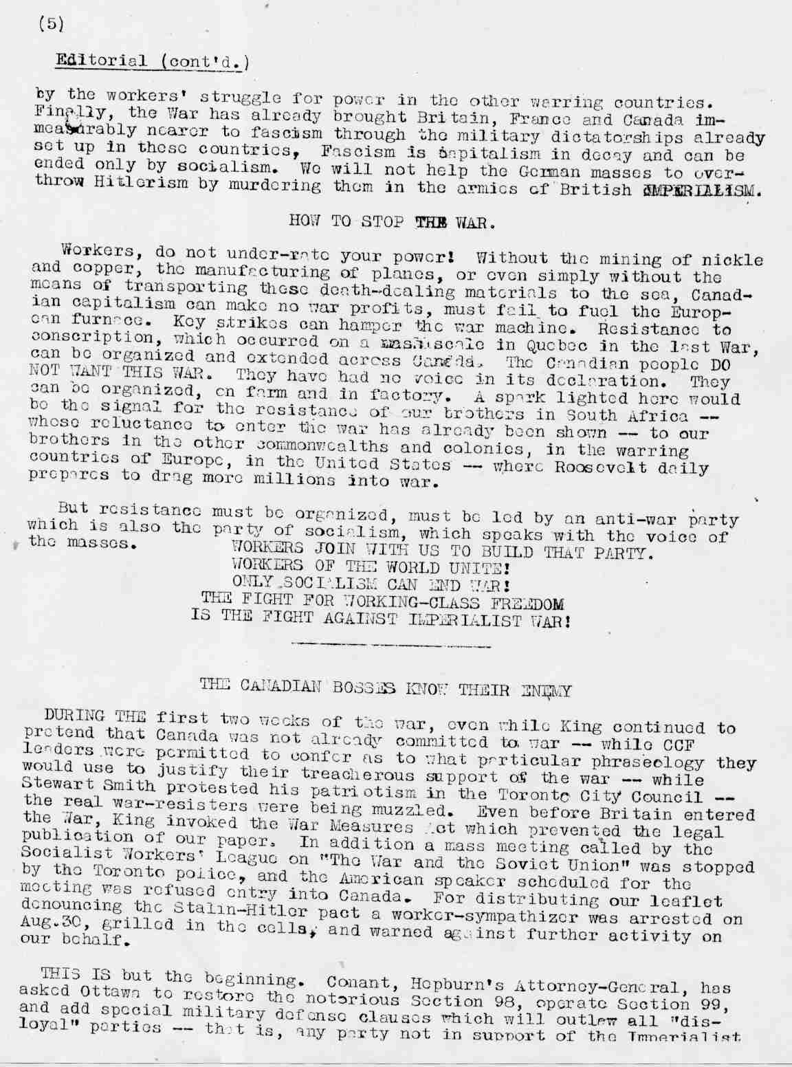 Ross Dowson Correspondence 1938 to 1942