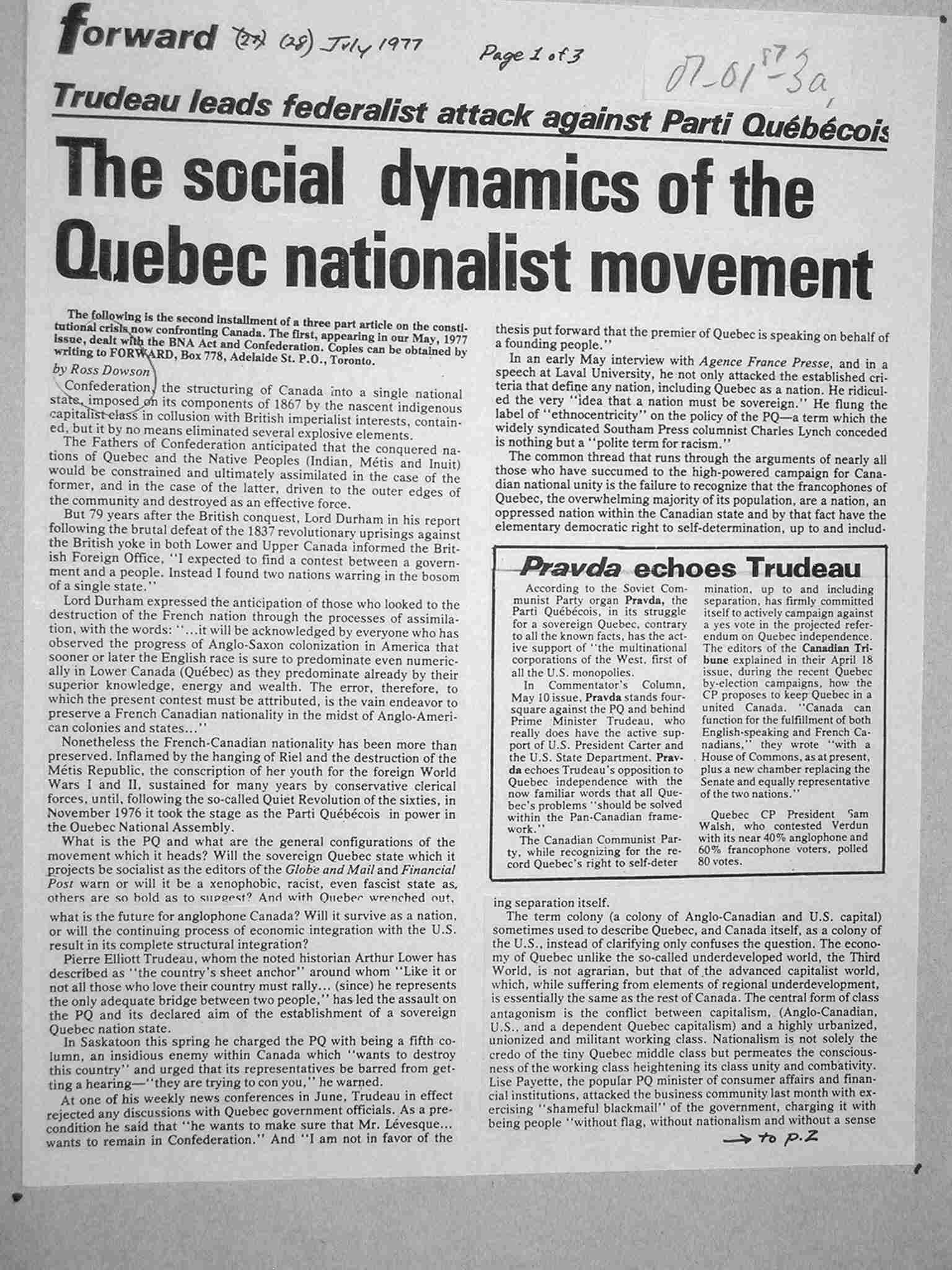 Nationalism in the trudeau era essay