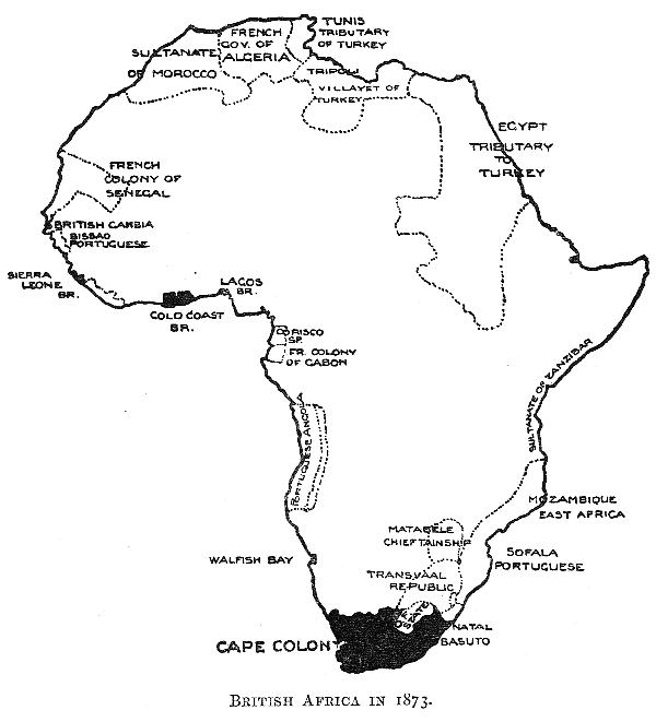 British Africa in 1873