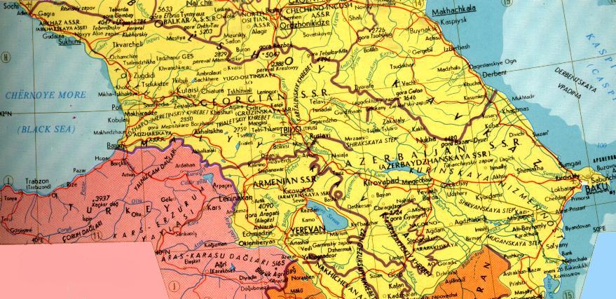 Karl Kautsky Georgia - Georgia map 1921