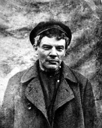 V. I. Lenin in a wig and cap. Razliv Station. July 26 (August 11) 1917