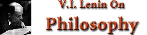 Lenin on Philosophy