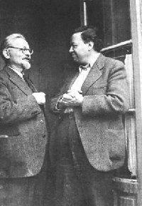 León Trotsky con Diego Rivera
