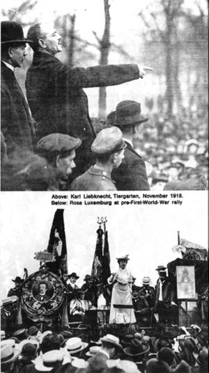 Karl Liebknecht, Rosa Luxemburg