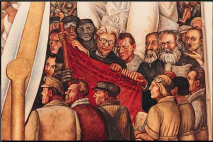Fotos y cuatro libros de le n trotsky taringa for Diego rivera lenin mural