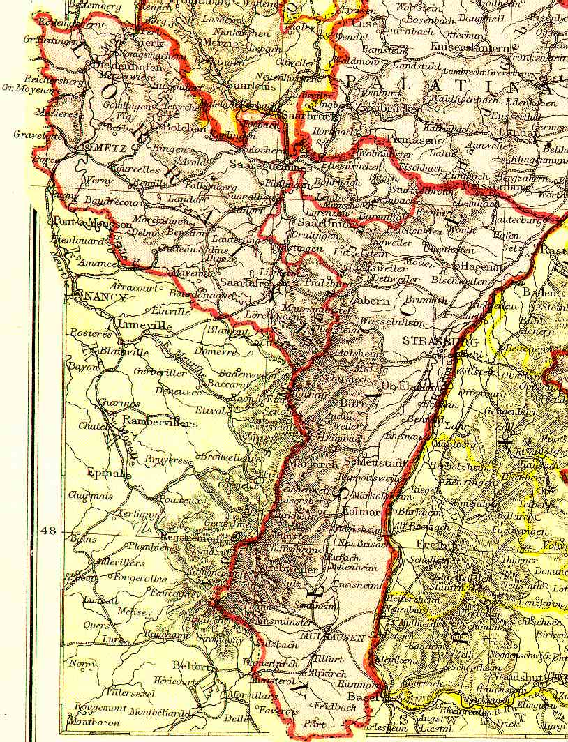 Map Of Germany France Border.Glossary Of Events Fr