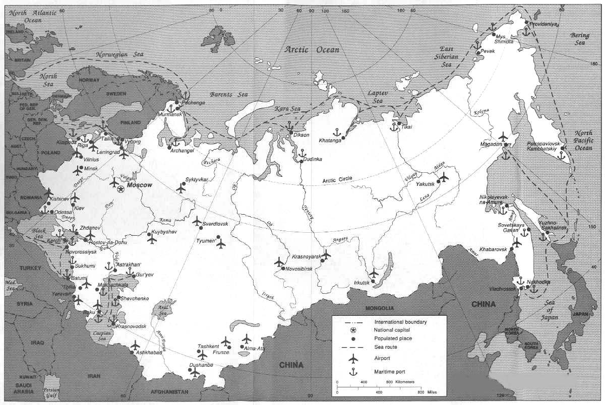 Soviet Union Cities By Population