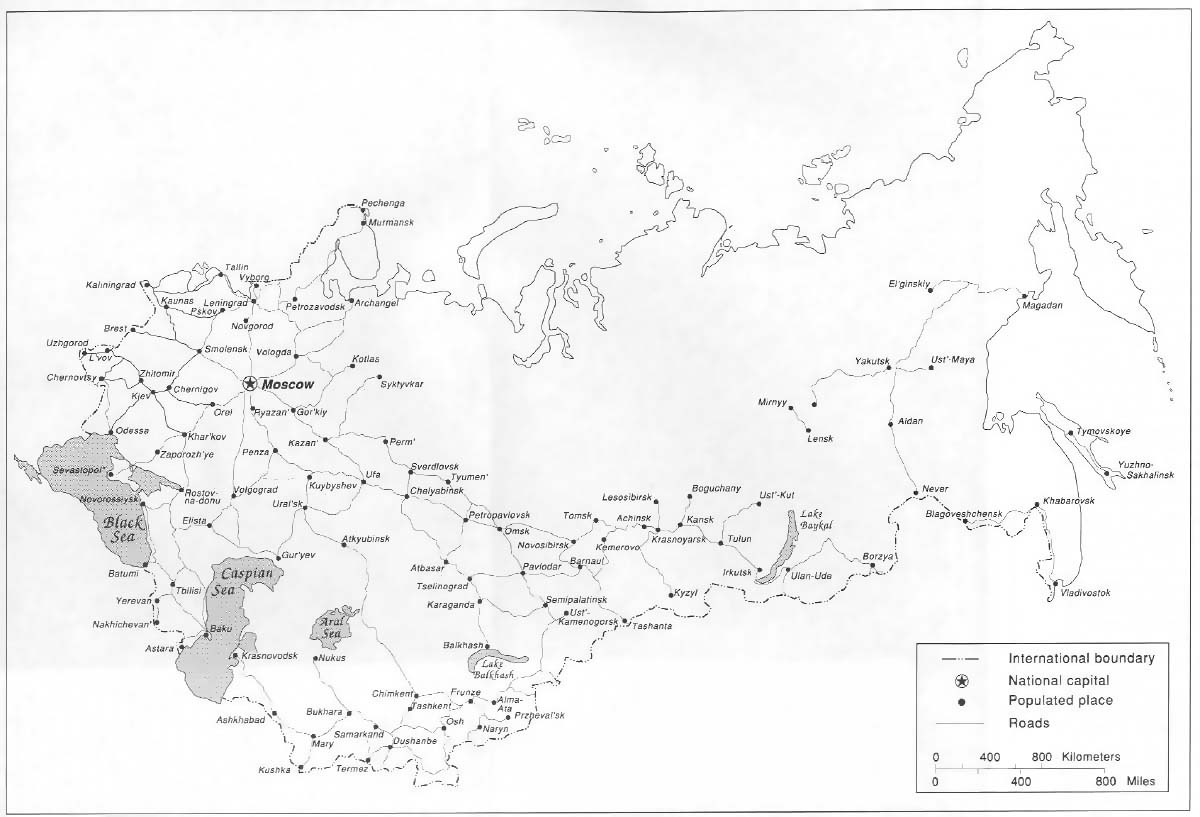Maps of the Soviet Union