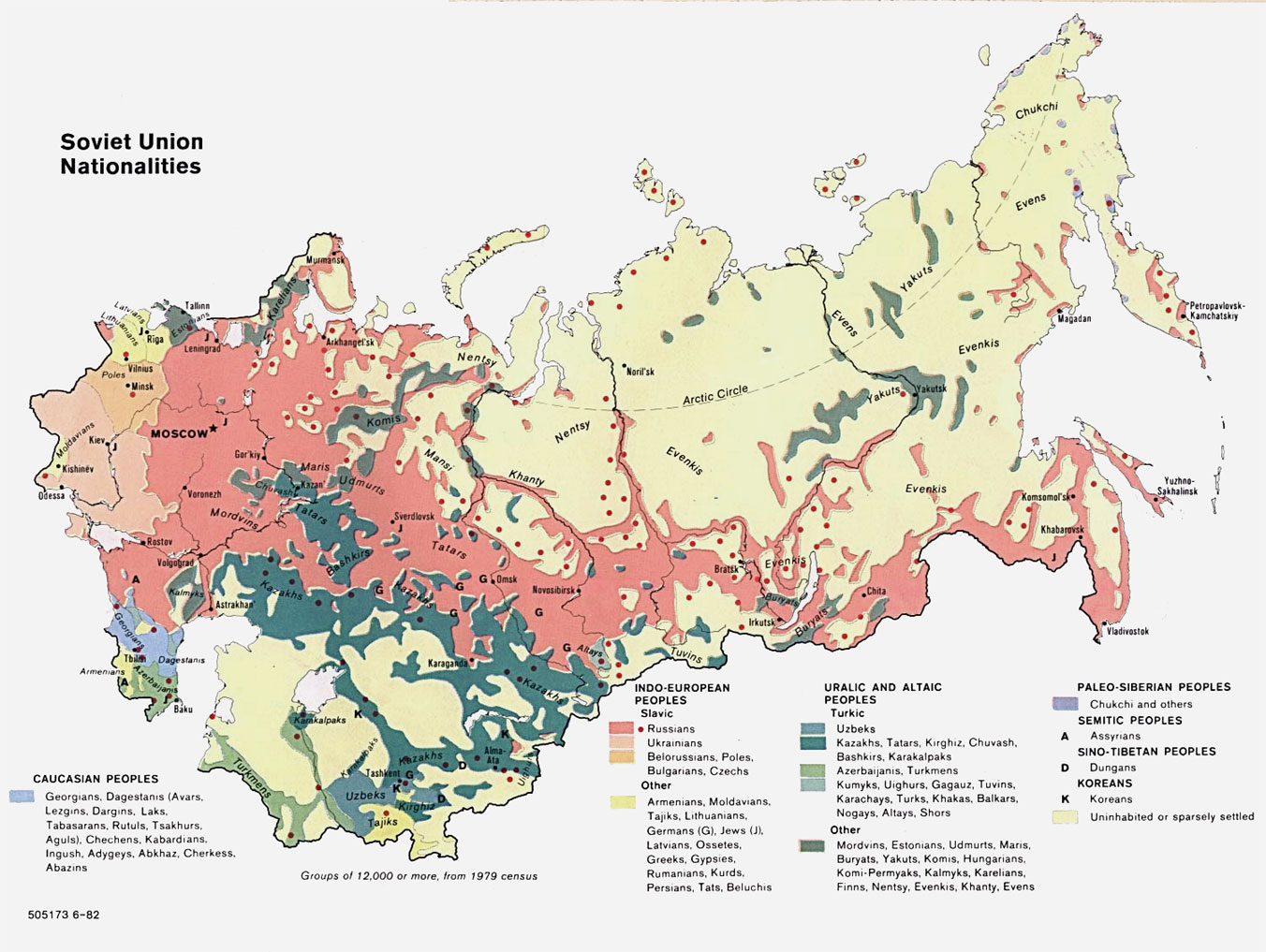 Maps of the soviet union map nationalities over 60 nationalities represented by 13 color groupings gumiabroncs Choice Image