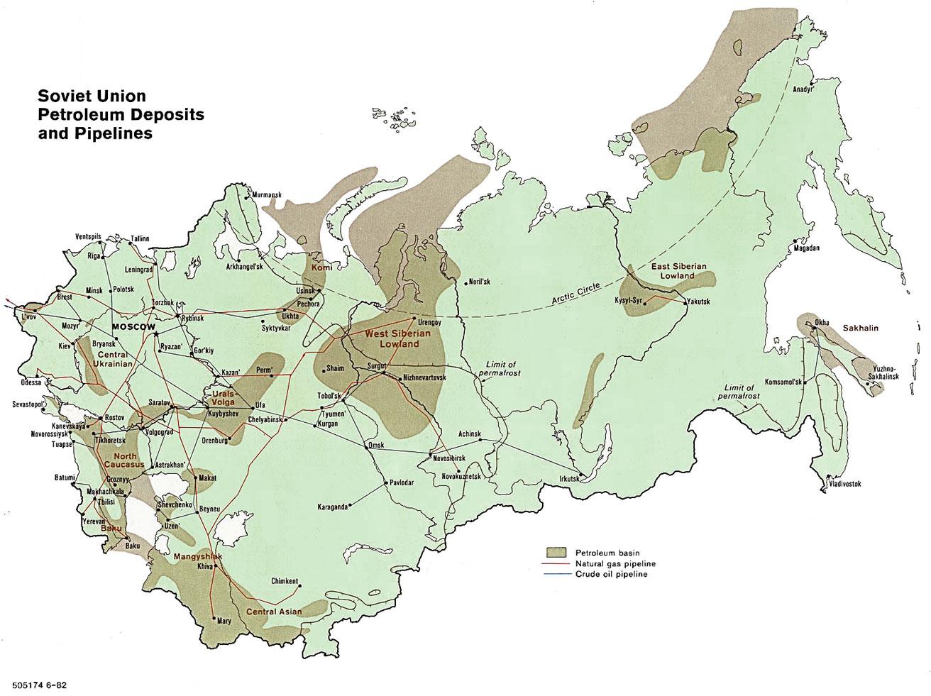 Asian oil fields