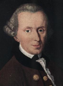 thin, mean-looking portrait of kant
