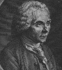 etching of Rousseau