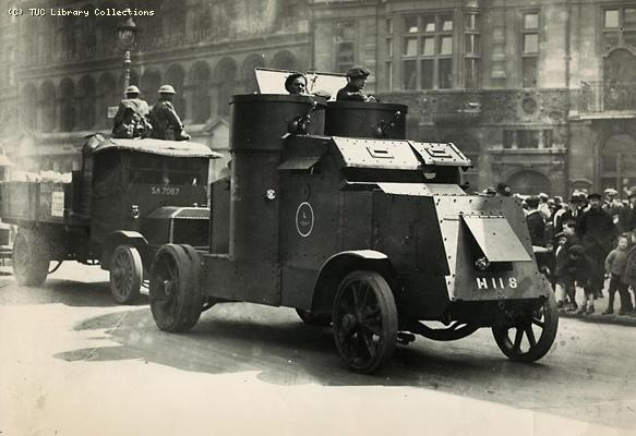 Army on streets during 1926