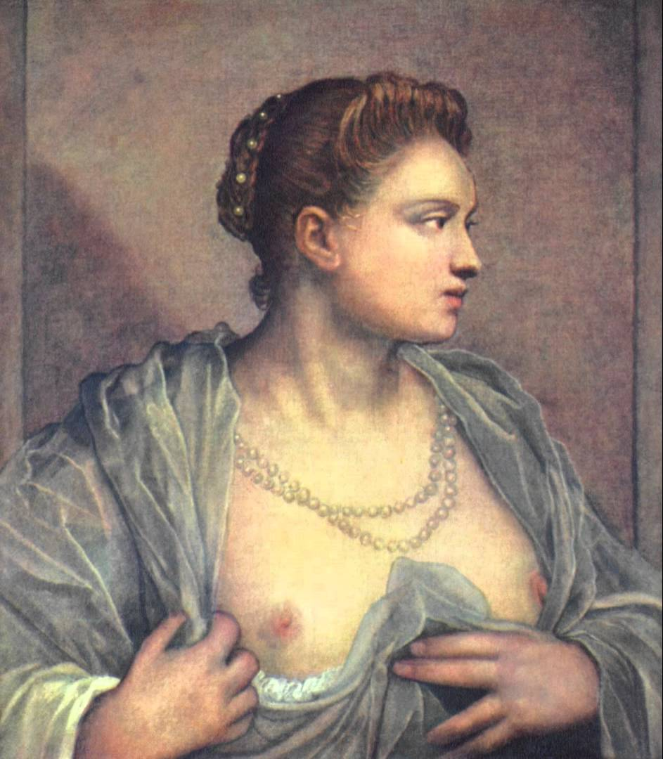 Bare women breasts