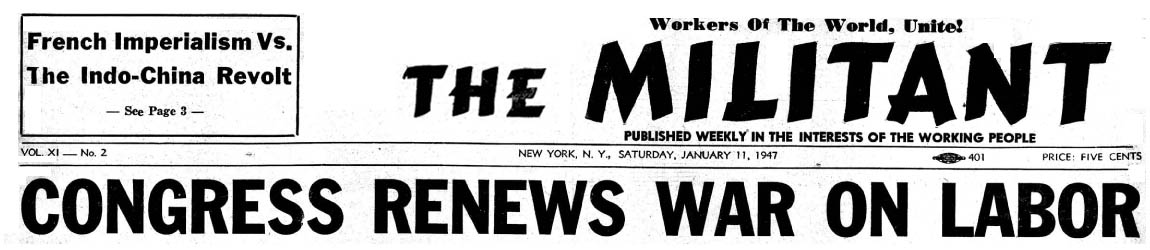 The Militant Contents By Issue 1947