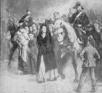 Louise Michel arrested after the Paris Commune 1871