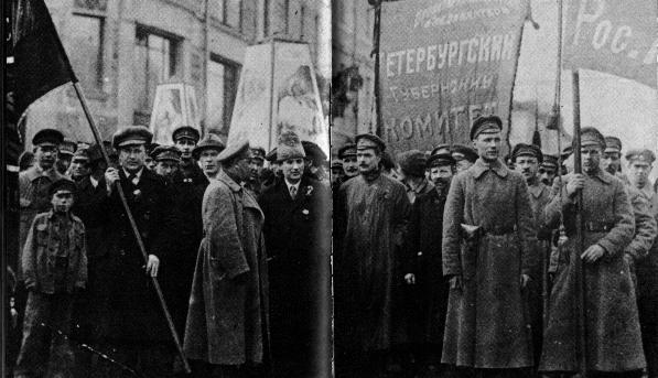 Petrograd Parade welcoming Comintern delegates in 1920