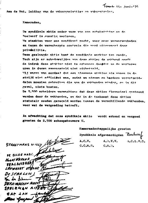 informele ontslagbrief Jan Cap (1987): Jan Cap. In naam van mijn klasse informele ontslagbrief