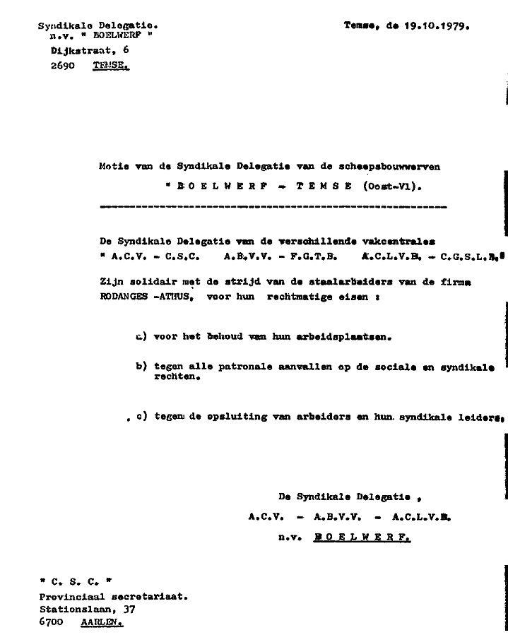 acv ontslagbrief Jan Cap (1987): Jan Cap. In naam van mijn klasse