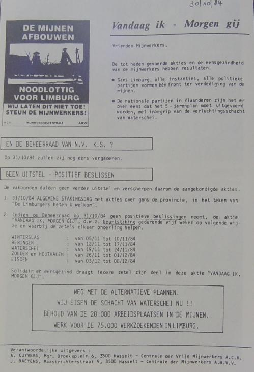 hugo franssen  1988   de slag om de mijnen