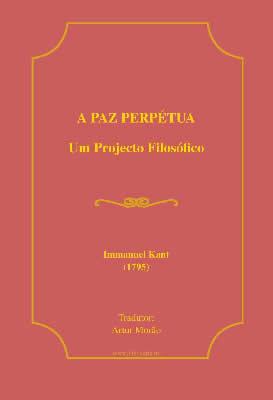 A Paz Perptua Um Projecto Filosfico