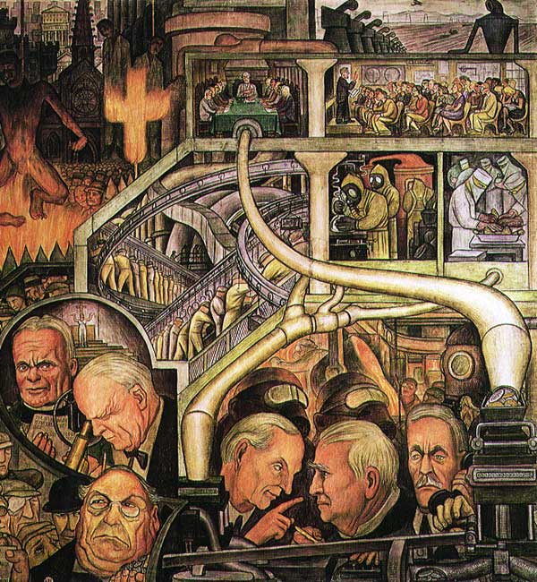 Modern industry new york new workers school 1933 for Diego rivera mural new york