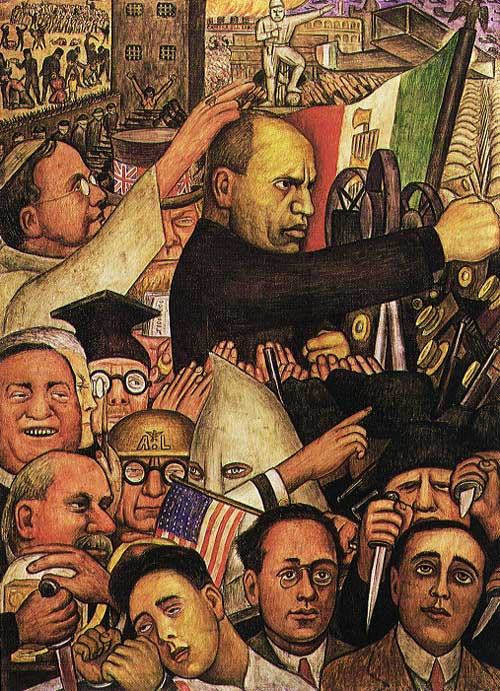 Mexican muralists exhibits for Diego rivera lenin mural