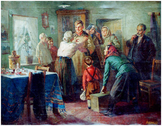 Socialist realism exhibits for Mural examples