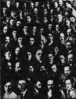 montage of all the Bolshevik leadership