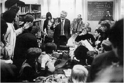 Jurgen Habermas with students 1960