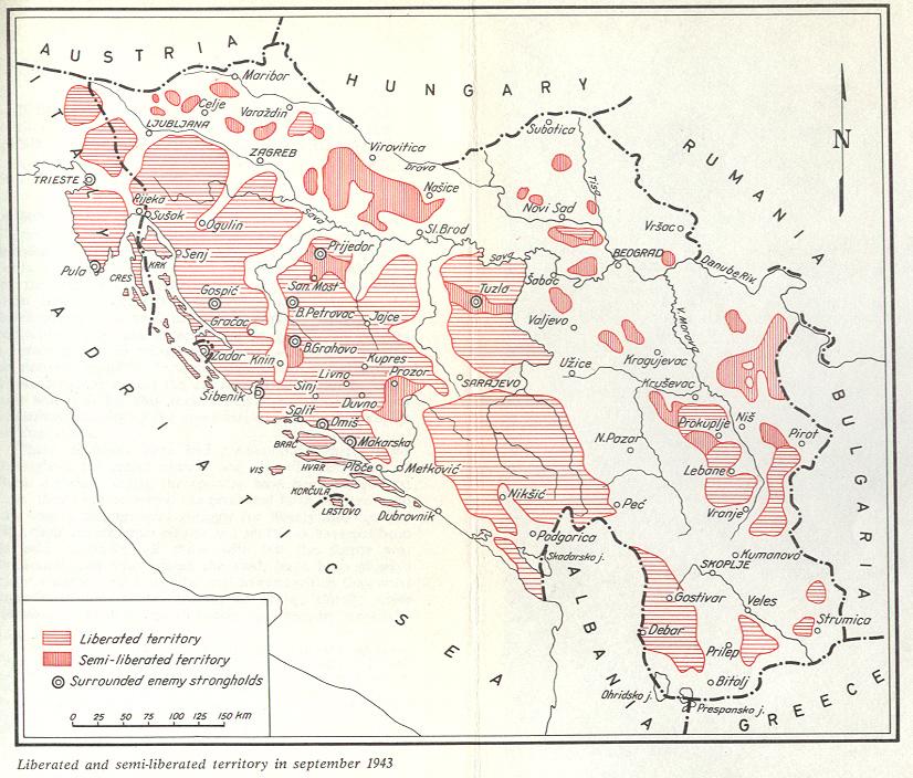 ...i karta naših prostora nakon kapitulacije Italije 1943...